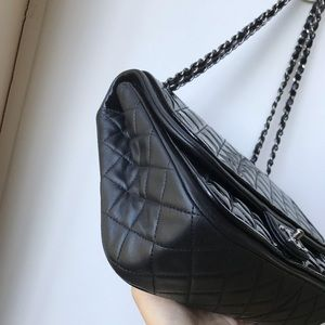 CHANEL Bags - SOLD Chanel quilted patent flap bag.